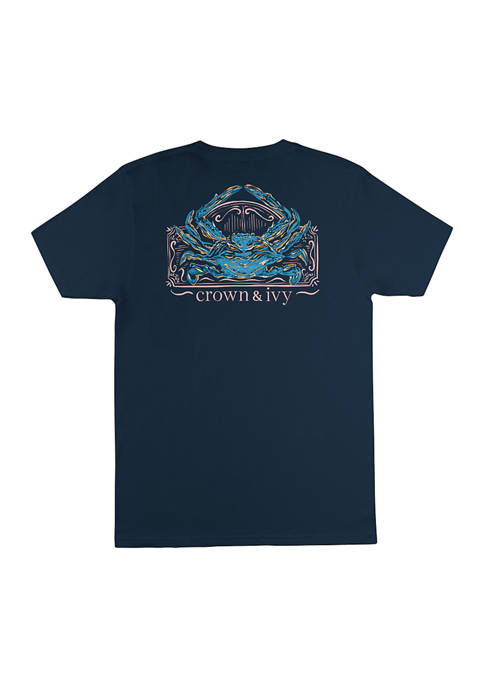 Crown & Ivy™ Short Sleeve Painted Crab Graphic