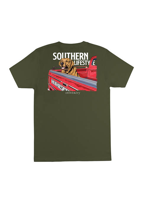 Crown & Ivy™ Short Sleeve Southern Pickup Graphic
