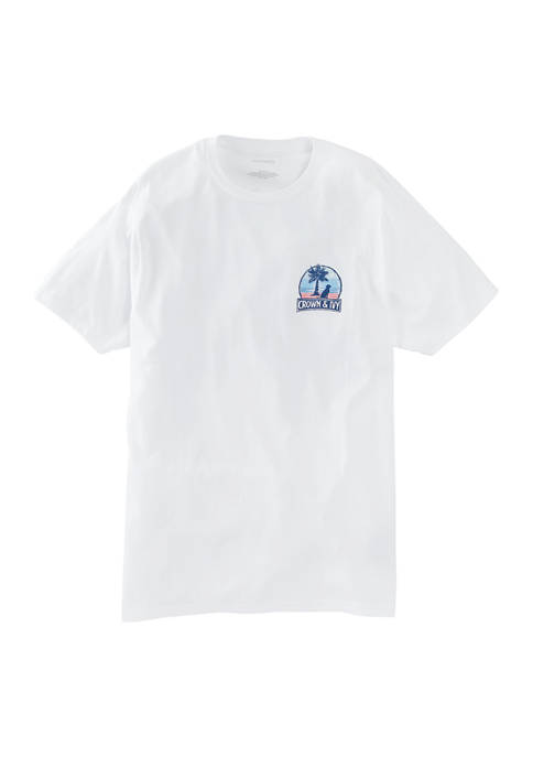 Crown & Ivy™ Mens Short Sleeve USA Palm