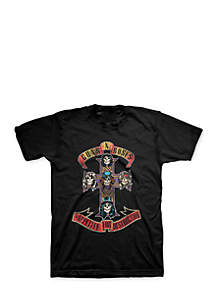Guns and Roses Distressed Cross Tee