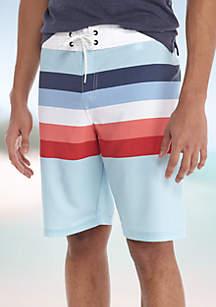 Multistripe Board Shorts