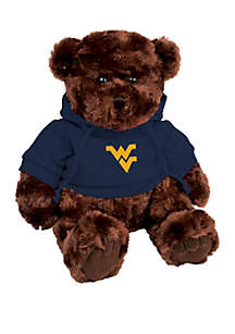 West Virginia Mountaineers 10 in Traditional Teddy Bear with Hoodie
