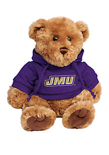 James Madison Dukes 10 in Traditional Teddy Bear with Hoodie