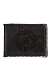 Alabama Crimson Tide Black Contrast Stitch Bifold Wallet