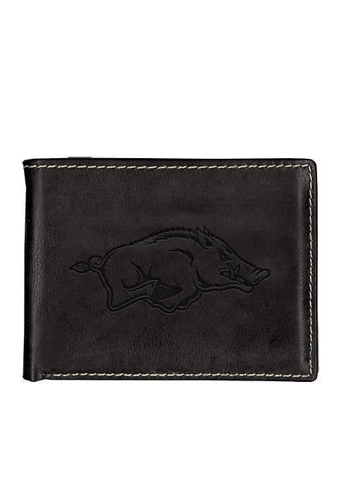 Arkansas Razorbacks Black Contrast Stitch Bifold Wallet