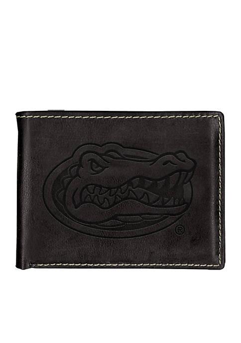 Florida Gators Black Contrast Stitch Bifold Wallet
