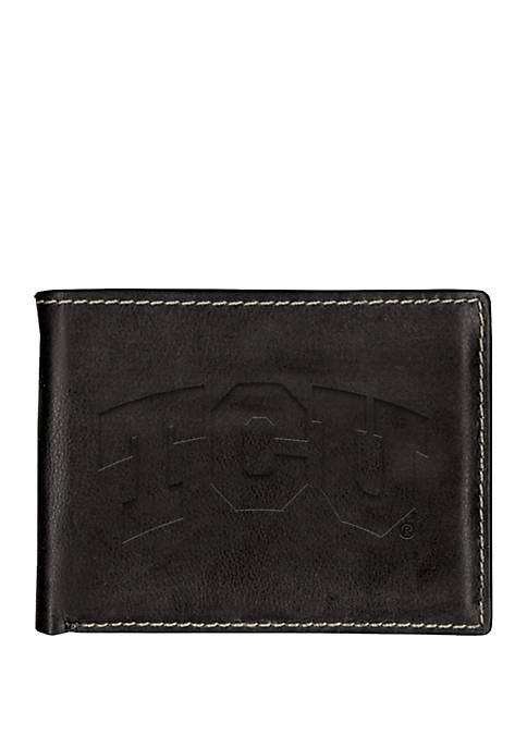 TCU Horned Frogs Contrast Stitching Bifold Wallet