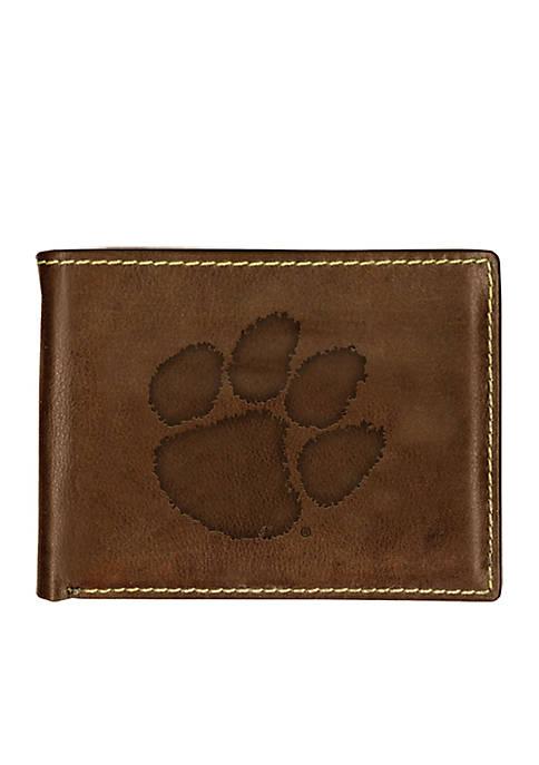 Clemson Tigers Contrast Stitch Bifold Wallet
