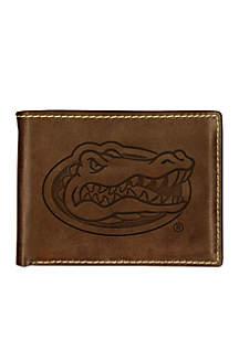 Florida Gators Brown Contrast Stitch Bifold Wallet