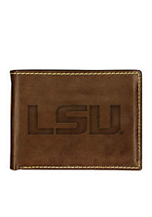 LSU Tigers Contrast Stitch Bifold Wallet