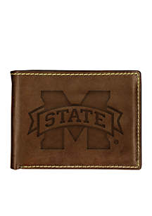 Mississippi State Bulldogs Brown Contrast Stitch Bifold Wallet