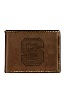 North Carolina State Wolfpack Brown Contrast Stitch Bifold Wallet