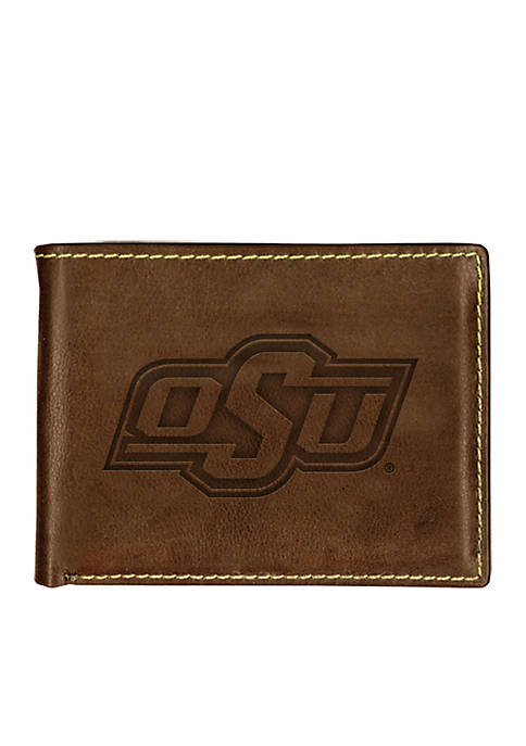 Oklahoma State Cowboys Brown Contrast Stitch Bifold Wallet