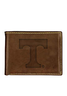 Tennessee Volunteers Brown Contrast Stitch Bifold Wallet