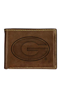 Georgia Bulldogs Contrast Stitch Bifold Wallet