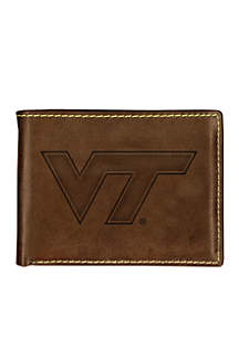 Virginia Tech Hokies Brown Contrast Stitch Bifold Wallet