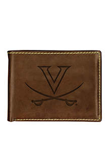 Virginia Cavaliers Brown Contrast Stitch Bifold Wallet
