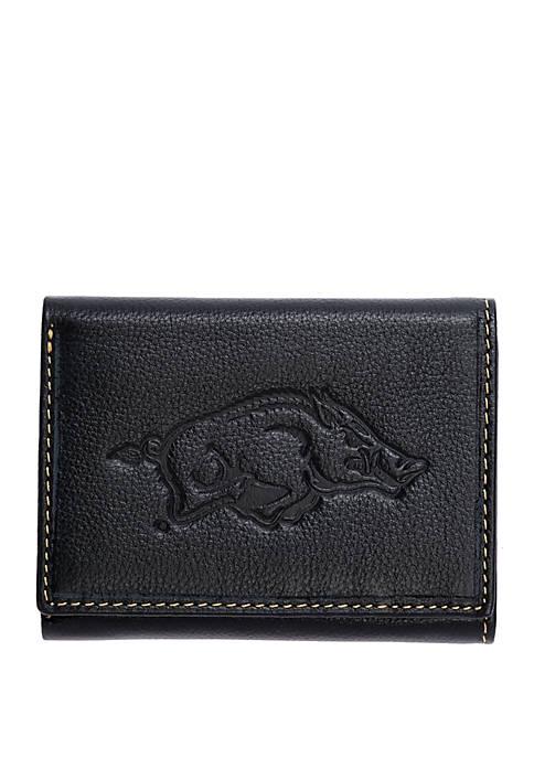 Arkansas Razorbacks Contrast Stitch Trifold Wallet