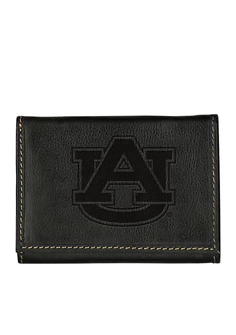 Auburn Tigers Contrast Stitch Trifold Wallet
