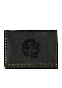 Florida State Seminoles Black Contrast Stitch Trifold Wallet