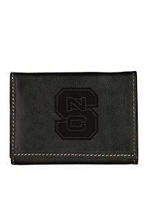 North Carolina State Wolfpack Black Contrast Stitch Trifold Wallet