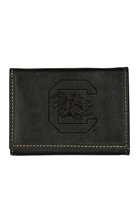 South Carolina Gamecocks Contrast Stitch Trifold Wallet