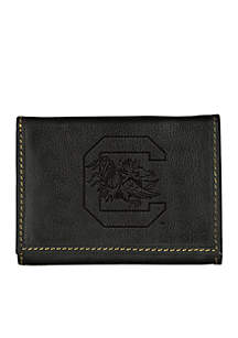 South Carolina Gamecocks Contrast Stitch Trifold Wallet