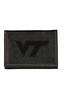 Virginia Tech Hokies Black Contrast Stitch Trifold Wallet