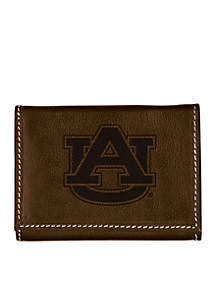 Auburn Tigers Brown Contrast Stitch Trifold Wallet