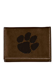 Clemson Tigers Brown Contrast Stitch Trifold Wallet