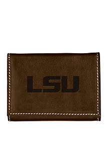 Louisiana State Tigers Brown Contrast Stitch Trifold Wallet