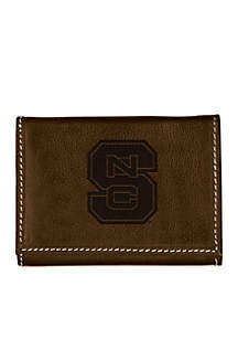 North Carolina State Wolfpack Brown Contrast Stitch Trifold Wallet