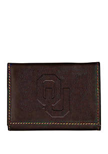 Oklahoma Sooners Brown Contrast Stitch Trifold