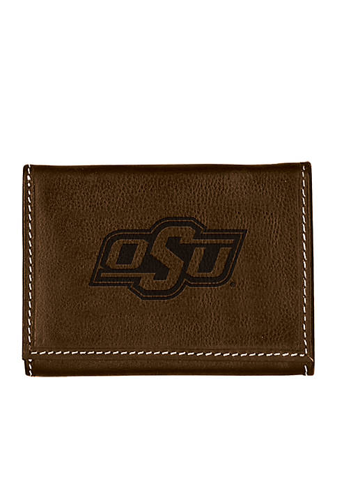 Oklahoma State Cowboys Contrast Stitch Trifold Wallet