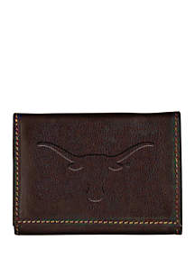 Texas Longhorns Contrast Stitch Trifold Wallet