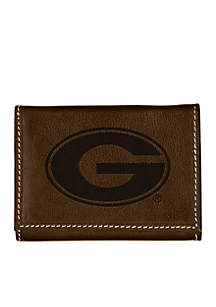 Georgia Bulldogs Brown Contrast Stitch Trifold Wallet