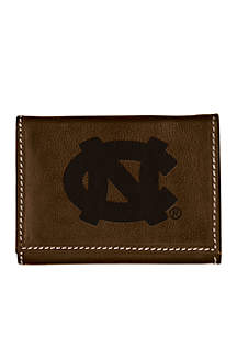 UNC Chapel Hill Brown Contrast Stitch Trifold Wallet