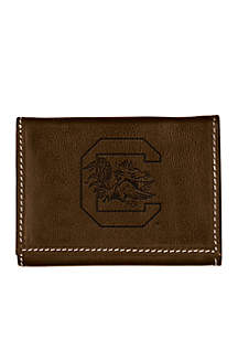 South Carolina Gamecocks Brown Contrast Stitch Trifold Wallet