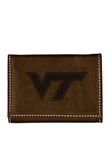 Virginia Tech Hokies Brown Contrast Stitch Trifold Wallet