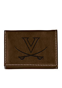 Virginia Cavaliers Brown Contrast Stitch Trifold Wallet