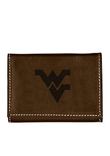 West Virginia Mountaineers Brown Contrast Stitch Trifold Wallet
