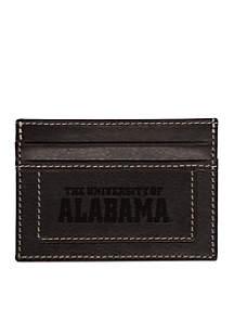 Alabama Crimson Tide Black Westbridge Clip Cardholder