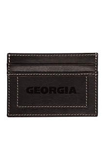 Georgia Bulldogs Black Westbridge Clip Cardholder