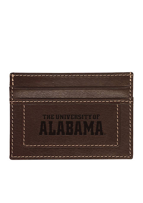Alabama Crimson Tide Brown Westbridge Clip Cardholder