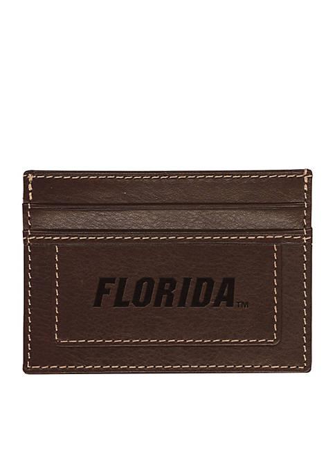 Florida Gators Brown Westbridge Clip Cardholder