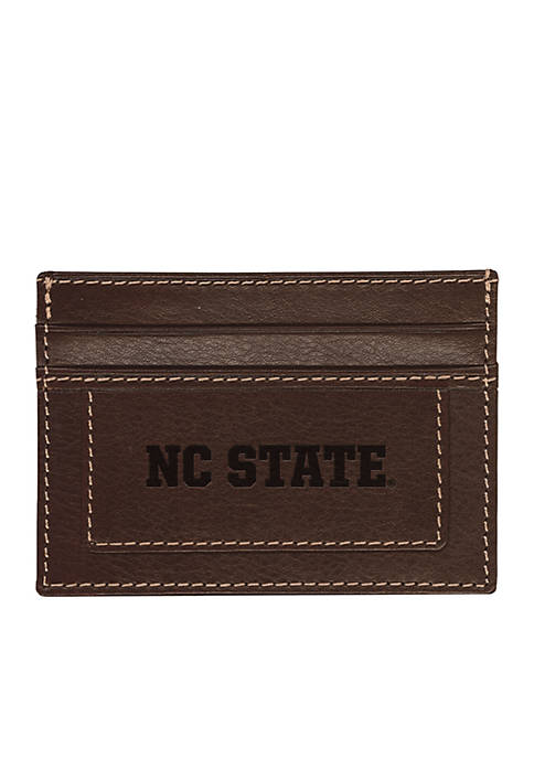 North Carolina State Wolfpack Brown Westbridge Clip Cardholder