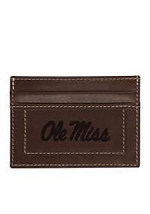 Ole Miss Rebels Brown Westbridge Clip Cardholder