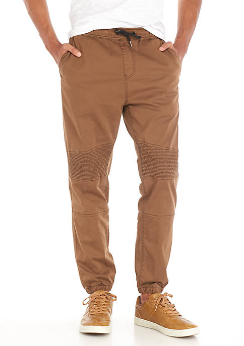TRUE CRAFT Twill Moto Joggers