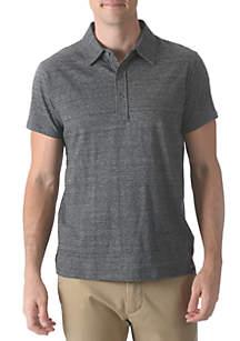 Slub Jersey Polo Short Sleeve Shirt
