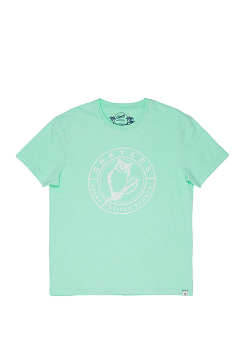 Grayers Short Sleeve Owl Print Tee